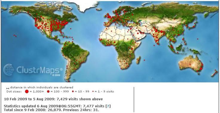 Anlus Readers Map August 2009